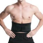Webbing Breathable Waist Belt Squat Weightlifting Fitness Steel Plate Back Support Belt, Specification: XL(Black)