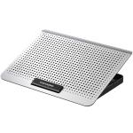 ICE COOREL Laptop Aluminum Alloy Radiator Fan Silent Notebook Cooling Bracket, Colour: Six-Fan Space Silver