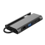 ICE COOREL H8 Multifunction USB HUB USB Interface Mobile Bracket, Number of interfaces: 7 In 1