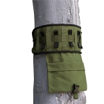 Outdoor Camping Tied Tree Hanging Bag Multifunctional Canvas Travel Portable Cookware Tool Storage Bag(Green)
