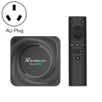 X88 Pro 20 4K Smart TV BOX Android 11.0 Media Player with Voice Remote Control, RK3566 Quad Core 64bit Cortex-A55 up to 1.8GHz, RAM: 8GB, ROM: 128GB, Support Dual Band WiFi, Bluetooth, Ethernet, AU Plug