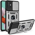 For Samsung Galaxy A51 Sliding Camera Cover Design TPU+PC Protective Case(Silver)