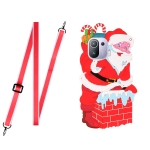 For Xiaomi Mi 11 Pro Christmas Series TPU Shockproof Case with Neck Lanyard(Santa Claus)