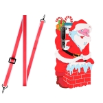 For Xiaomi Mi 10 Christmas Series TPU Shockproof Case with Neck Lanyard(Santa Claus)