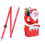 For Xiaomi Mi 10 Lite Christmas Series TPU Shockproof Case with Neck Lanyard(Santa Claus)