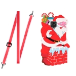 For Xiaomi Redmi Note 9S Christmas Series TPU Shockproof Case with Neck Lanyard(Santa Claus)
