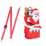 For Xiaomi Redmi Note 7 Christmas Series TPU Shockproof Case with Neck Lanyard(Santa Claus)