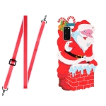 For Samsang Galaxy S20 Christmas Series Silicone Shockproof Case with Neck Lanyard(Santa Claus)