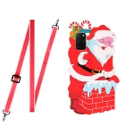 For Samsang Galaxy S20 FE Christmas Series Silicone Shockproof Case with Neck Lanyard(Santa Claus)