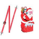 For Samsang Galaxy A20s Christmas Series Silicone Shockproof Case with Neck Lanyard(Santa Claus)