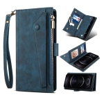 For Samsung Galaxy A42 / M42 5G Retro Frosted Horizontal Flip Leather Case with Holder & Card Slot & Wallet & Zipper Pocket & Lanyard(Deep Green)
