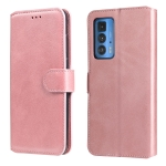 For Motorola Moto Edge 20 Pro Classic Calf Texture PU + TPU Horizontal Flip Leather Case with Holder & Card Slots & Wallet(Rose Gold)