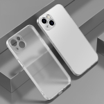 Electroplated Edge Frosted TPU Shockproof Case For iPhone 13 Pro Max(Translucent Frosted)