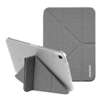 MOMAX PC + PU Horizontal Flip Leather Case with Holder & Sleep / Wake-up Function For iPad mini 6(Dark Grey)
