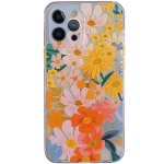 Shockproof TPU Pattern Protective Case For iPhone 12(Watercolor Chrysanthemum)