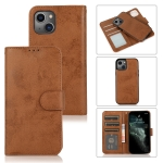 Retro 2 in 1 Detachable Magnetic Horizontal Flip TPU + PU Leather Case with Holder & Card Slots & Photo Frame & Wallet For iPhone 13 mini(Brown)