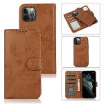 Retro 2 in 1 Detachable Magnetic Horizontal Flip TPU + PU Leather Case with Holder & Card Slots & Photo Frame & Wallet For iPhone 13 Pro(Brown)