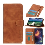 For Motorola G Pure KHAZNEH Retro Texture PU + TPU Horizontal Flip Leather Case with Holder & Card Slots & Wallet(Brown)