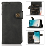 For Motorola G Pure KHAZNEH Dual-Splicing Cowhide Texture Horizontal Flip Leather Case with Holder & Card Slots & Wallet & Photo Frame & Lanyard(Black)