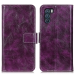 For OPPO K9 Pro Retro Crazy Horse Texture Horizontal Flip Leather Case with Holder & Card Slots & Photo Frame & Wallet(Purple)
