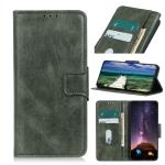 For Samsung Galaxy S22 5G Mirren Crazy Horse Texture Horizontal Flip Leather Case with Holder & Card Slots & Wallet(Dark Green)