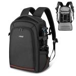PULUZ Outdoor Portable Waterproof Scratch-proof Dual Shoulders Backpack Handheld PTZ Stabilizer Camera Bag with Rain Cover for Digital Camera, DJI Ronin-SC / Ronin-S (Black)
