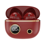PRO100 TWS Bluetooth 5.2 Noise Canceling Waterproof Earphones 9D Stereo Sports Headphone with Charging Case(Red)
