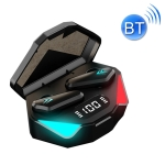 TWS-Y04 Bluetooth 5.0 TWS Binaural True Stereo Touch Control Gaming Earphone with LED Charging Case(Black)