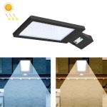 LED Solar Street Lamp Human Body Induction Road Lighting Household Outdoor Garden Light, Style: Body Sensing(Cold White Light)