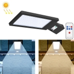 LED Solar Street Lamp Human Body Induction Road Lighting Household Outdoor Garden Light, Style: Remote Control+Sensor(Cold White Light)