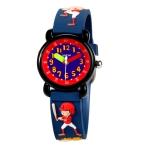 JNEW A335-86131 Children Cartoon 3D Baseball Boy Silicone Strap Waterproof Quartz Watch(Blue)