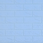 5 PCS 3D Stereo Self-Adhesive Foam Brick Wall Stickers Waterproof And Moisture-Proof Wipeable Stickers, Specification: Standard Light Blue 70x77cm